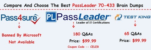 PassLeader 70-433 Exam Dumps[27]