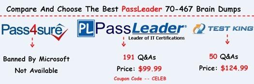 PassLeader 70-467 Brain Dumps[50]